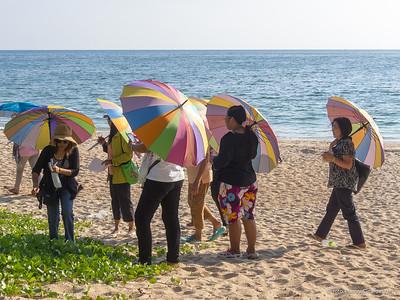 tourists visiting