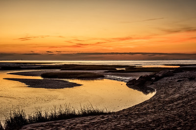 Brewster, MA.  Paines Creek at sunset.