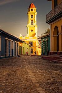 Bell Tower of Iglesia y Convento de San Francisco, at sunrise, UNESCO World Heritage Site, Trinidad, Cuba