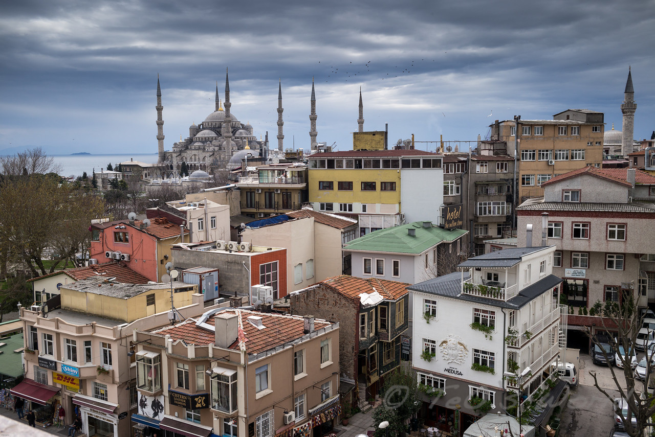 The Blue Mosque & the grey sky