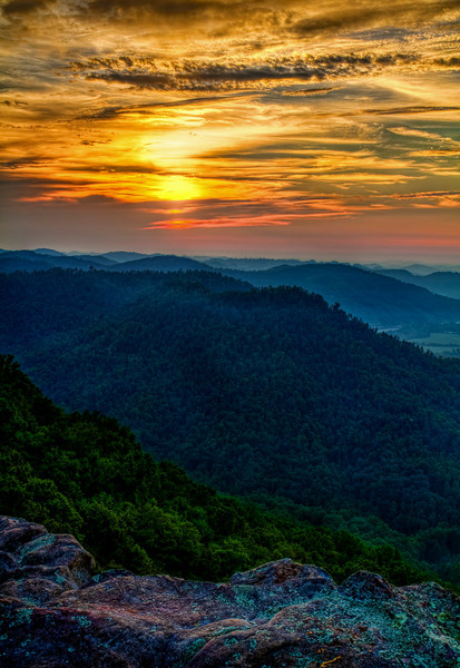 """Sunset at Pine Mountain""<br /> Pine Mountain State Park<br /> Pineville, KY"