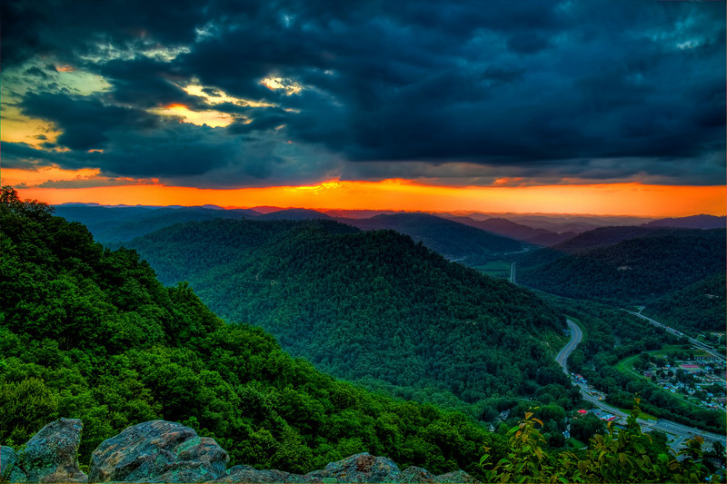 """Sunset Over Pineville""<br /> Pine Mountain State Park<br /> Pineville, KY"