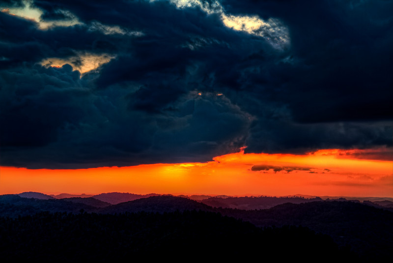 """Stormy Sunset""<br /> Pine Mountain State Park<br /> Pineville, KY"