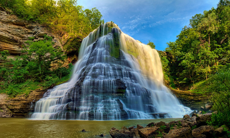 """The Big Falls""<br /> Burgess Falls State Park, TN"