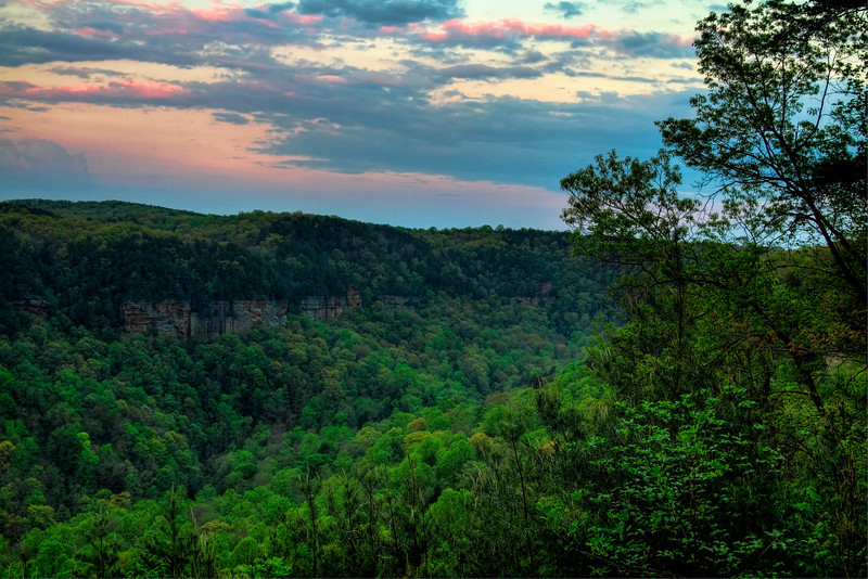 """Early Evening""<br /> Falls Creek Falls State Park<br /> Spencer, TN"