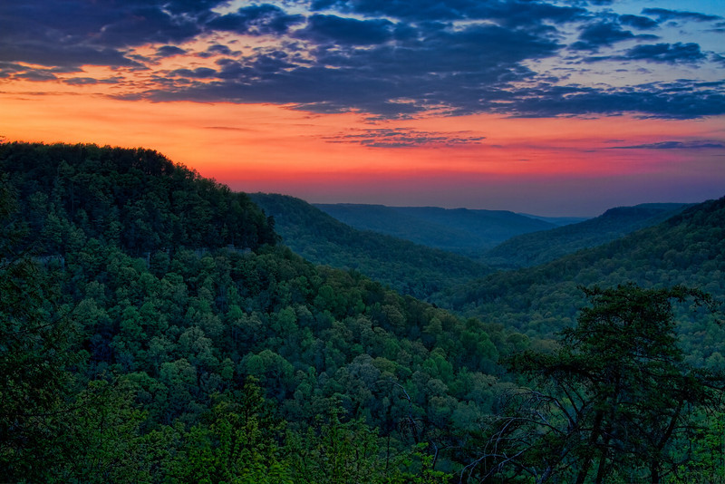 """Sunset Over the Valley""<br /> Falls Creek Falls State Park<br /> Spencer, TN"