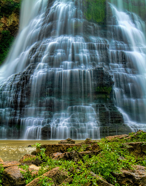 """Base of the Big Falls""<br /> Burgess Falls State Park, TN"