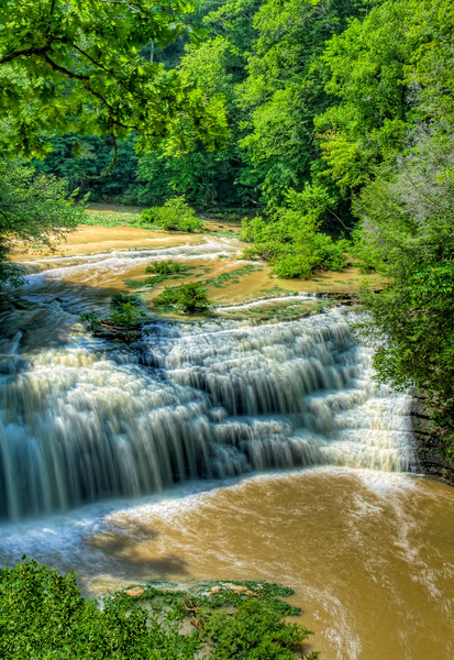 """MIddle Falls""<br /> Burgess Falls State Park, TN"