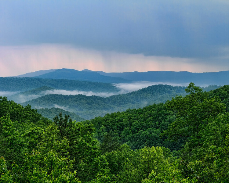 """Rain Storm Over the Mountains""<br /> Pine Mountain State Park<br /> Pineville, KY"