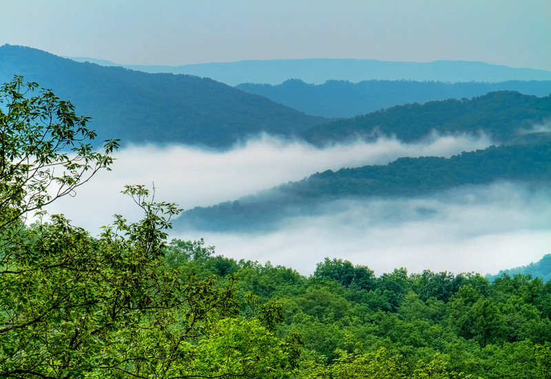 """Misty Morning""<br /> Pine Mountain State Park<br /> Pineville, KY"