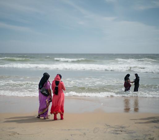 The Kovalam Beach in Trivandrum, India