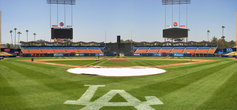 2005 pan and tile.  Dodger stadium, Los Angeles.