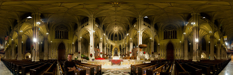 2006.  360 degree pan and tile.  St. Patrick's Cathedral, New York.