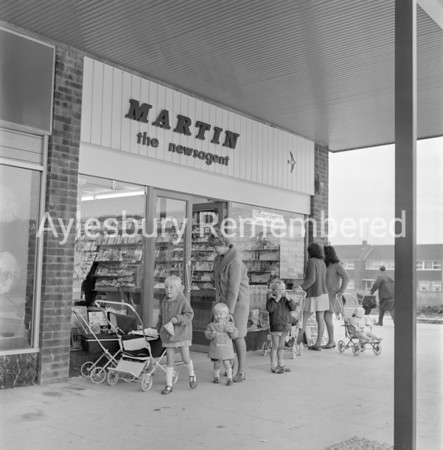 Martin newsagent in Jansel Square, Aug 27 1968