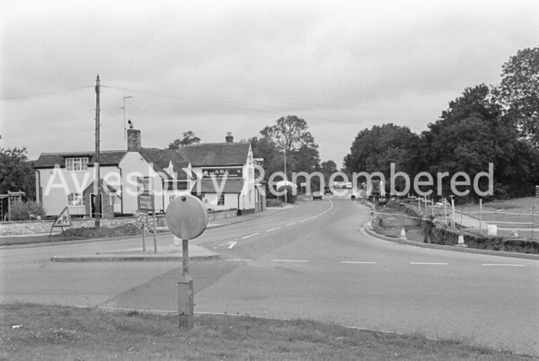 Roadworks in Buckingham Road, Aug 1985