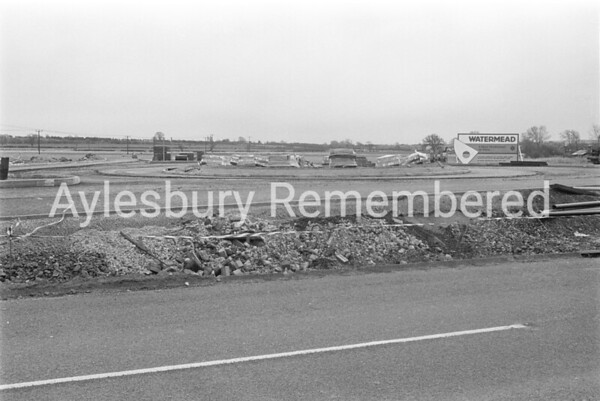 Watermead site from Buckingham Road, Apr 1987