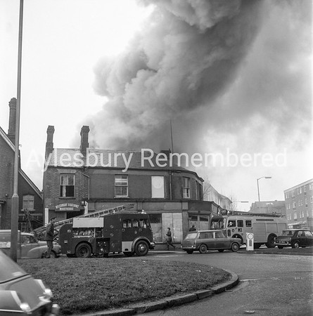 Fire at Aylebsury Discount Warehouse, Buckingham Road, Jan 1973