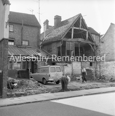 Slaughterhouse demolished in Buckingham Street, Aug 26 1964