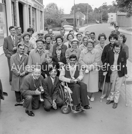 Outing for Polio sufferers in Exchange Street, May 18 1963