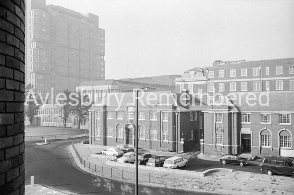 Exchange Street seen from Bucks Herald offices, Jan 1970