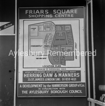 Friars Square map, June 19th 1969