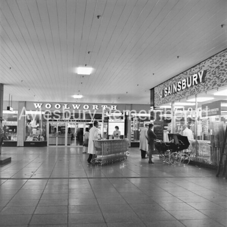 Woolworth and Sainsbury in Friars Square, Aug 11th 1971