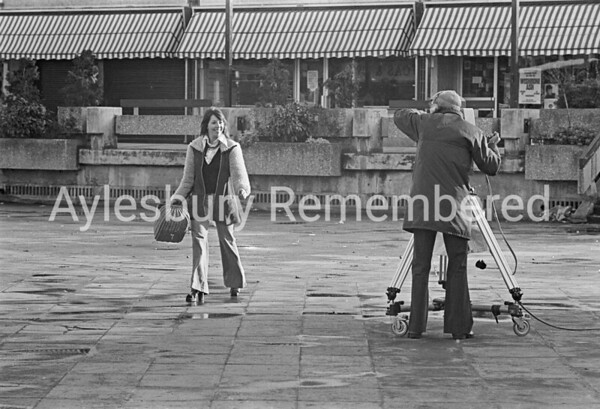 BBC filming Play Away in Friars Square, Dec 1973