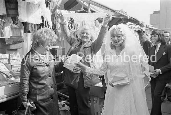 Weddings Exhibition leaflets in Friars Square, Mar 1973