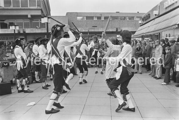 Morris Men in Friars Square, Oct 1974
