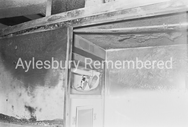 Photo booth fire in Friars Square, Dec 1976
