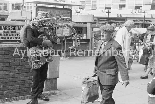 Busker in Friars Square, May 1978