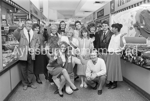 Staff of Lower Friars Square, Dec 1987