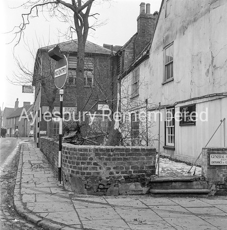 Tree down on corner of George Street, Feb 1963