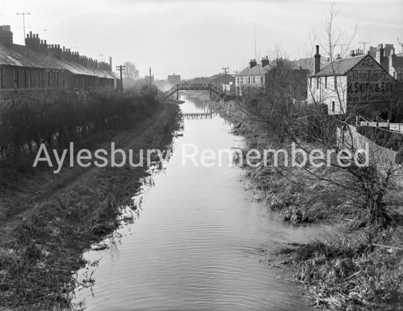 Canal from High Street bridge, Feb 3 1959