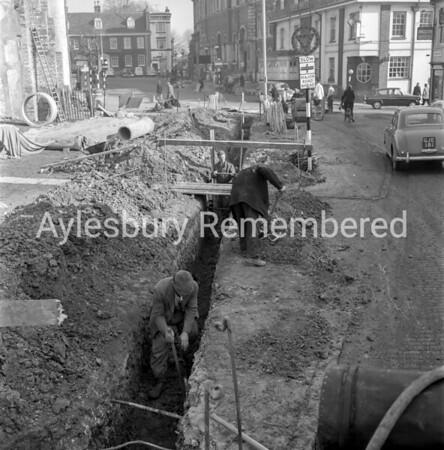 Roadworks in Great Western St, Mar 1963