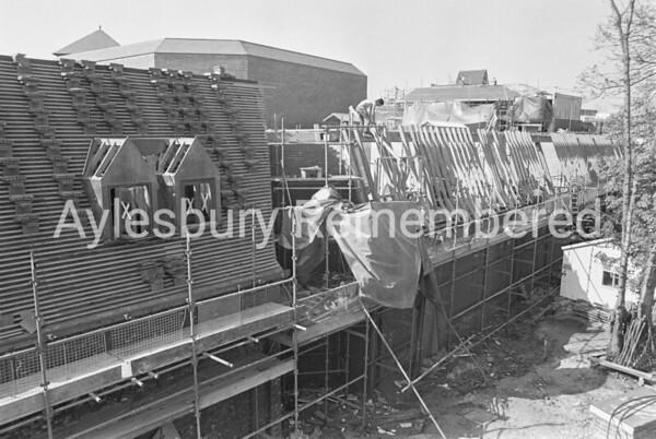 Hale Leys Shopping Centre construction, Apr 1982