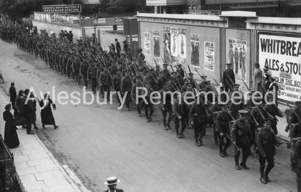 Volunteers in High Street, 22 May 1915