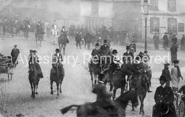 Kingsbury during a hunt meet, 1910