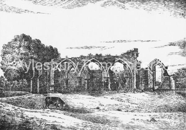 St Peter's Chapel ruins, Quarrendon, 1864