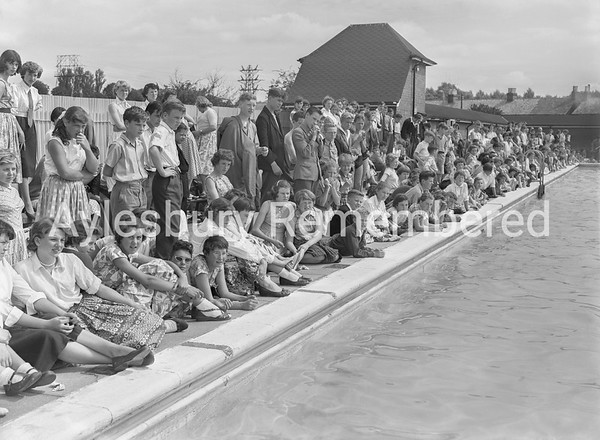 Grange CS School swimming gala at Vale Pool, July 18th 1958