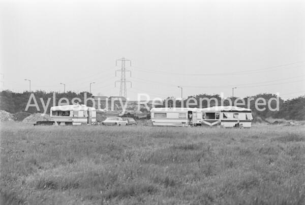 Gypsy camp at Walton Court, Aug 1977