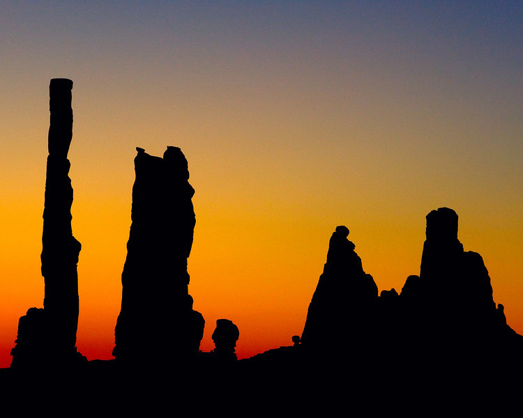 Sunrise at a formation known as totem.