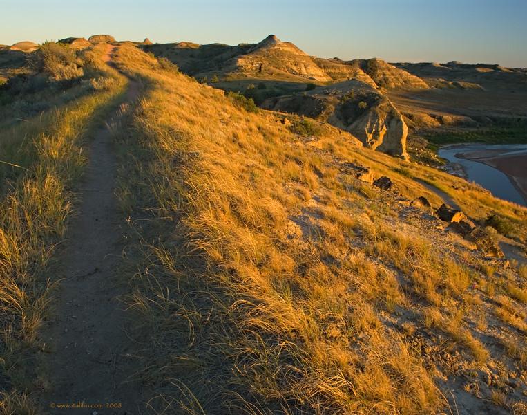 The ridge trail
