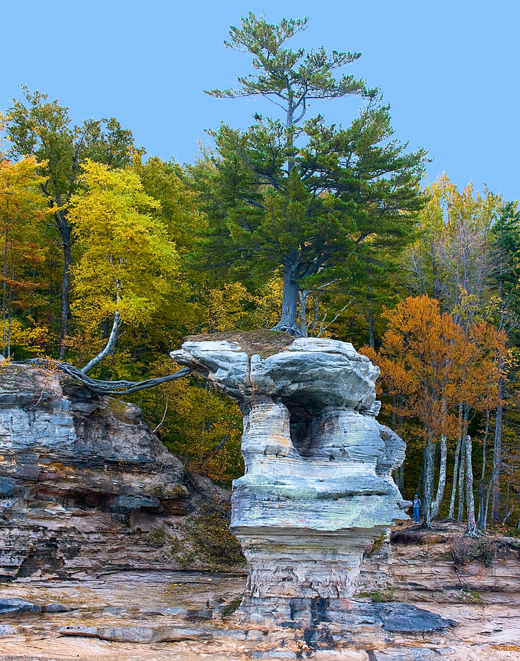 Pictured rocks stand alone