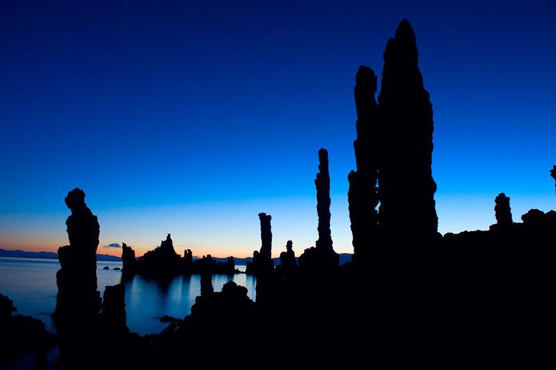 Tufa silhouettes