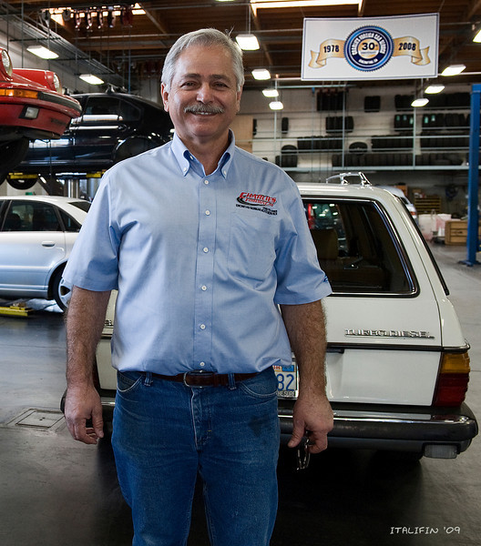 The auction would not be possible without the support of the sponsors like Charlie Sougias of Charlie's Foreign Car Service.