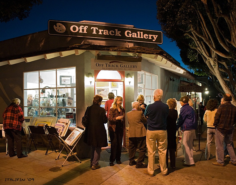 Artist reception at the Off Track Gallery