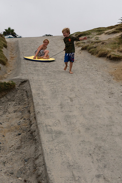 Who says you need water to boogie board?