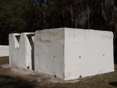 Kingsley Plantation slave quarters (reconstructed)