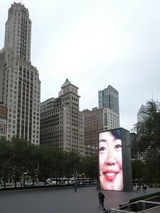 Crown Fountain, by Jaume Plensa.  Millenium Park, Chicago